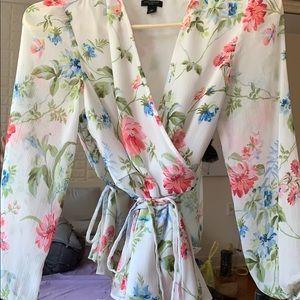 Ann Taylor petite floral blouse